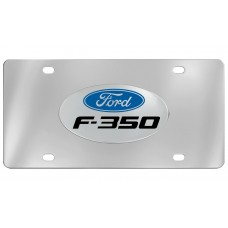 Ford - F-350 - With  Logo Emblem  Attached To Stainless Steel Plate