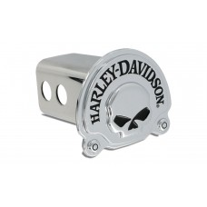 """2"""" Std. Post Hitch Cover-With 3d Skull Chrome Plated Emblem"""