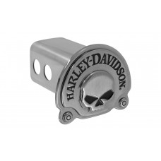 "2"" Std. Post Hitch Cover-W/3d Skull Black Nickle Plated Emblem"