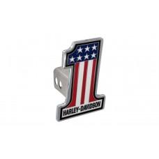 "2"" Standard Hitch Cover Set - With #1 Shape 3 Colors Usa Flag Emblem"