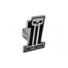 "2"" Standard Hitch Cover Set -With #1 Shape Hd Black 3d Skull Emblem"