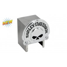 European -Tow Ball Hitch Cover With 3d Chrome Skull Emblem
