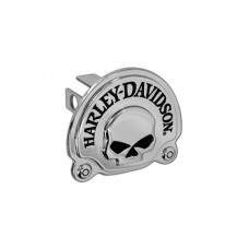 """Mini 1.25"""" Post Hitch Cover- Mounted With 3d Skull Chrome Plated Emblem."""