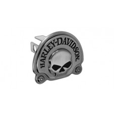 """Mini 1.25"""" Post Hitch Cover- Mounted With 3d Skull Black Nickle Plated Emblem"""