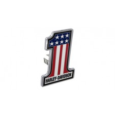 "Mini 1.25"" Post Hitch Cover- Mounted With  #1 Shape 3 Colors Usa Flag Emblem"