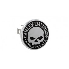 """Mini 1.25"""" Post Hitch Cover- Mounted With  """"Willie G. Skull""""  Emblem"""