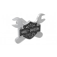 """Mini 1.25"""" Post Hitch Cover - B&S With Dual Crossed Wrenches Emblem"""