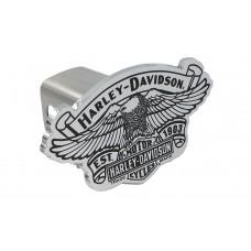 "Mini 1.25"" Post Hitch Cover- Hd Atop 1903 Anniv Eagle Vintage B&S Cutout Emblem."