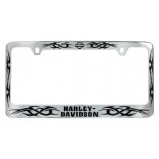 Black Tribal Blade License Frame