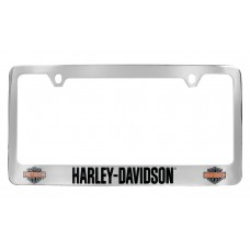 Colored Bar And Shield License Frame