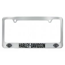 Black Bar And Shield License Frame
