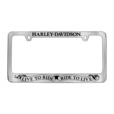 Live To Ride License Frame
