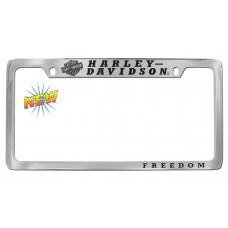 License Frame --Tilted B&S Logo,Hd/Top, Freedom/Bottom