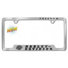 License Frame --Freedom/Top,Tilted B&S Logo,Hd/Bottom