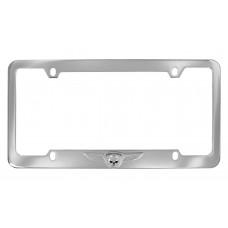 Ez -Chrome Skull & Wings /Bottom Rim Of Chrome Zinc License Frame.