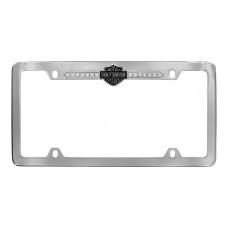 Clear B&S Crystal Frame - With Top Hd - B&S Emblem Strip