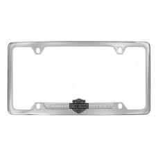 Clear B&S Crystal Frame - With Bottom Hd - B&S Emblem Strip