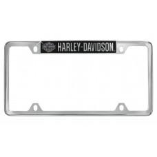 "License Frame - Top Rim ""B&S Harley-Davidson (R)"" With Raised Logo"
