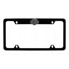 Ez - Black B&S Emblem On Top Rim Of Black Zinc License Frame.