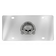 Front Plate - 3d Skull Black Nickle Plated Emblem