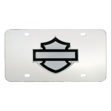 Front Plate - Plain Bar And Shield Emblem License Plate