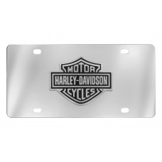 Front Plate - Black Bar And Shield Emblem License Plate