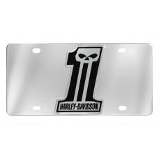 Front Plate  - #1 Shape Hd Black Skull Emblem