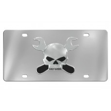 Harley Davidson Skull with Dual Crossed Wrenches Emblem