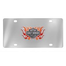 Harley Davidson 2 Color Flames, B&S Logo Emblem