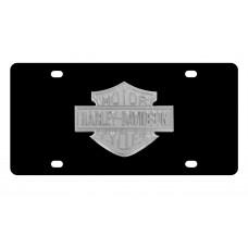 Harley Davidson Black Front Plate w/ Metalic B&S logo