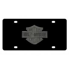 Harley Davidson Black Front Plate with B&S Black Nickel emblem