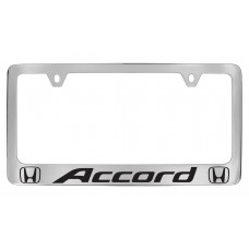 Honda - Accord With 2 Logos  - Chrome Plated Brass Frame