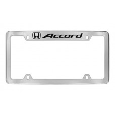 Honda - Accord With One Logo - Top Engraved  - Chrome Plated Brass Frame