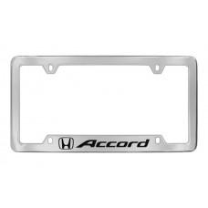 Honda - Accord With One Logo - Bottom  Engraved  - Chrome Plated Brass Frame