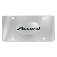 Honda- Accord - License Plate-Solid Brass Emblem On A Stainless Steel Plate