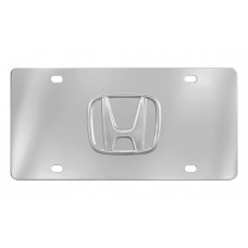 3d Honda Logo- License Plate-Chrome Plated  Stainless Steel Plate With Honda 3d Logo