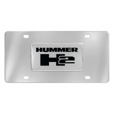 Hummer H2 Emblem Attached To Stainless Steel Plate