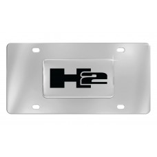 H2 Emblem Attached To Stainless Steel Plate
