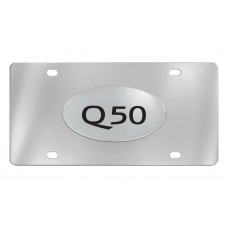 Infiniti - Q50 - Chrome Plated Brass Emblem Attached To A Stainless Plate