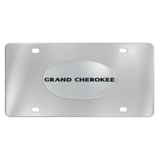 Jeep - Grand Cherokee - Chrome Plated Solid Brass Emblem  Attached To A Stainless Steel Plate
