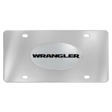 Jeep - Wrangler - Chrome Plated Solid Brass Emblem  Attached To A Stainless Steel Plate