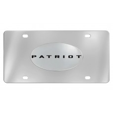 Jeep - Patriot - Chrome Plated Solid Brass Emblem  Attached To A Stainless Steel Plate