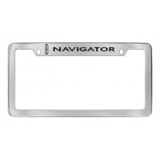 Lincoln - Navigator W / 1 Logo - Top Engraved - Chrome Plated Brass
