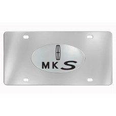 Lincoln- Mks With Logo *2013 Art Work  - Chrome Plated Brass Emblem Attached To Stainless Plate