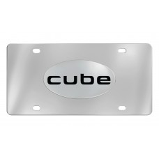 Nissan - Cube - Chrome Plated Brass Emblem Attached To A Stainless Plate
