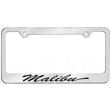 Malibu Script Solid Brass License Plate Frame