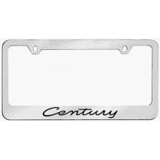 Century Solid Brass License Plate Frame