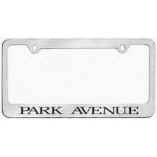 Park Avenue Solid Brass License Plate Frame