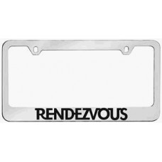 Rendezvous Solid Brass License Plate Frame