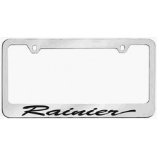 Rainier Script Solid Brass License Plate Frame